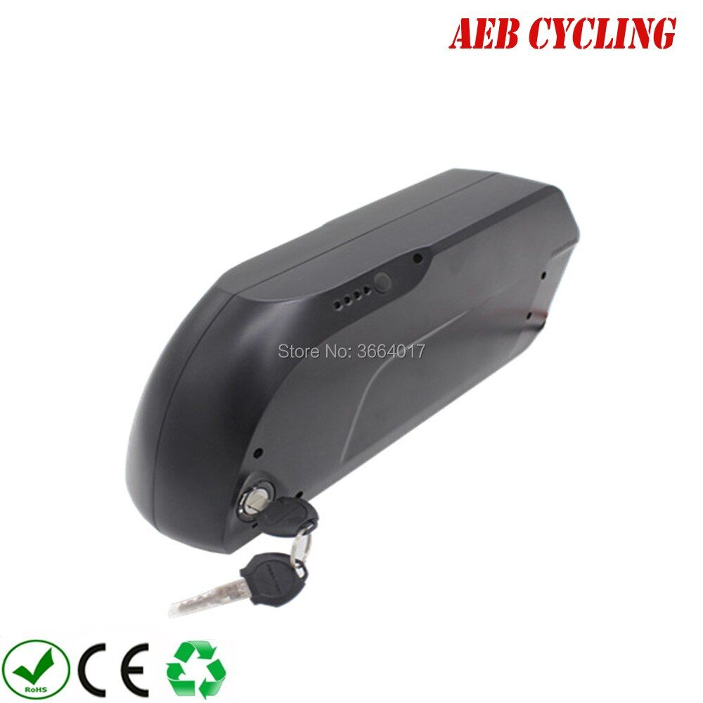 Free shipping and taxes to EU US Li-ion 48V 17.5Ah tiger shark down tube electric bicycle battery for fat tire bike with charger
