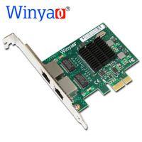 Winyao E575T2 Dual-port PCI-E X1 Gigabit Ethernet сетевой карты 10/100/1000 Мбит сетевой адаптер контроллер проводной 82575 E1G42ET