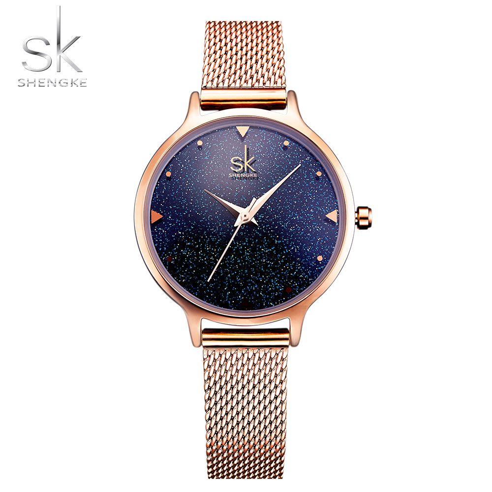 SHENGKE Fashion Elegant Quarts Women Watch Rose Gold Women Wrist Watch New Ladies Brand Luxury Relogio Feminino Reloj Mujer
