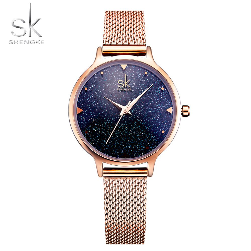 SHENGKE Fashion Elegant Quarts Women Watch <font><b>Rose</b></font> Gold Women Wrist Watch New Ladies Brand Luxury Relogio Feminino Reloj Mujer