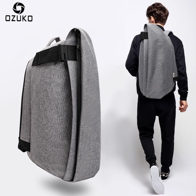 OZUKO Fashion Men Backpack Anti-theft Rucksack School Bag Casual Travel Waterproof Backpacks Male Laptop Computer Bag Mochila