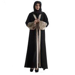 2019 Fashion Muslim Dewasa Renda Abaya Arab Mode Turki Timur Tengah Berlian Manik-manik Cardigan Gaun Musik Jubah Ramadan Wj829