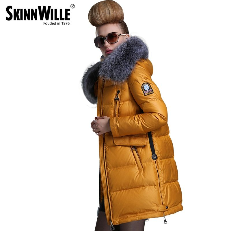 Fashion new arrival 2016 with a hood down coat female thickening wool collar medium-long women's
