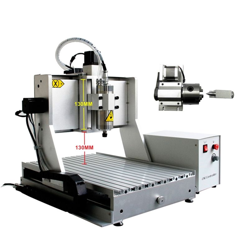 LY CNC 3040 ZH-VFD 800W Wood Router PCB Drilling Milling Machine 3 Axis 4 Axis CNC Cutting Machine