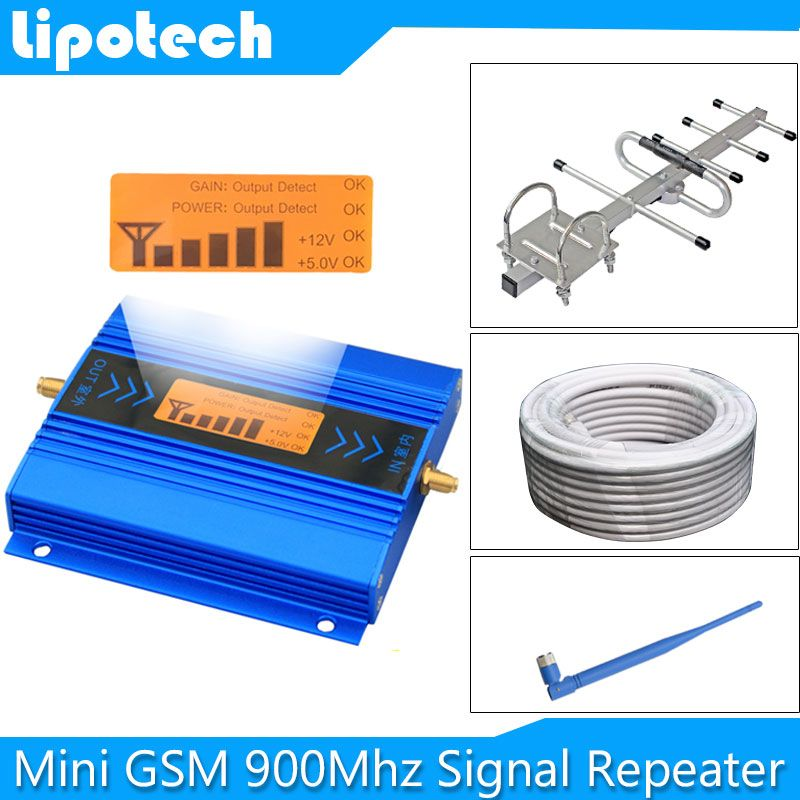 Hot sale! Mini LCD GSM 900Mhz 2G Repeater Mobile Phone Signal Booster GSM Signal Repeater Cellular Amplifier + Cable + Antenna