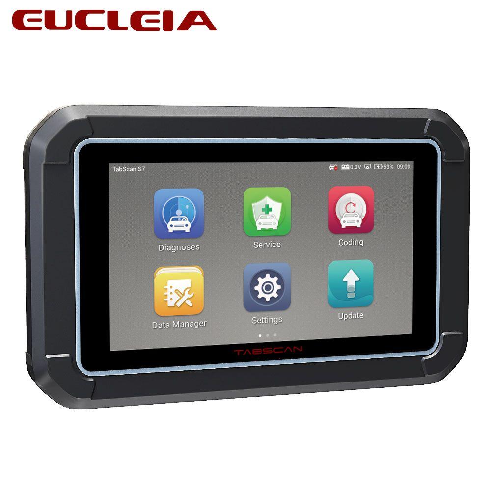 EUCLEIA S7C Voll System Professional OBD2 Automotive Scanner Unterstützung Motor/ABS/Airbag/Übertragung/EPB OBDII Diagnose werkzeug