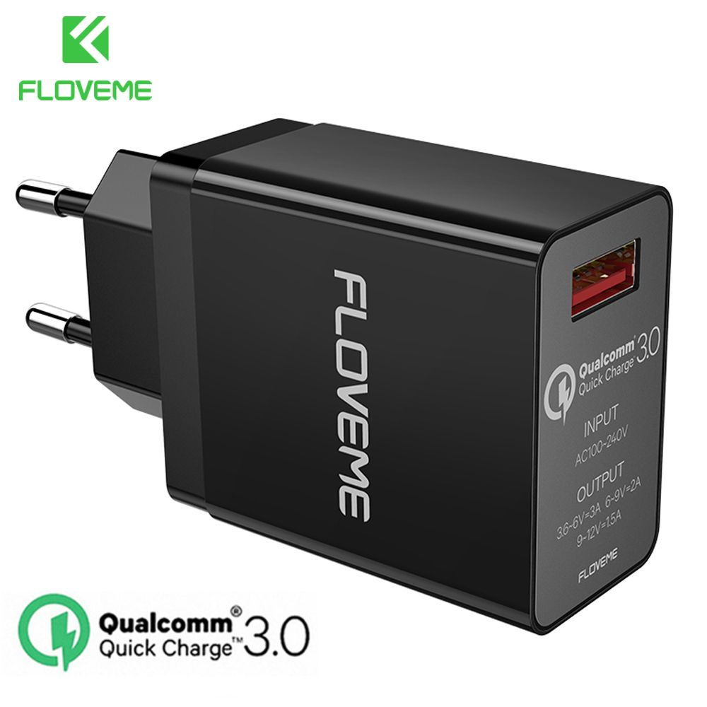 FLOVEME 18W Quick Charge 3.0 USB Charger & QC 2.0 Wall Phone Charger For iPhone Samsung S8 S9 Xiaomi mi 8 Fast Charger For Phone
