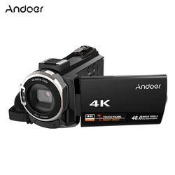 Andoer 4K 1080P 48MP Wifi Digital Kamera Video Camcorder Perekam W/0.39X Sudut Lebar Lensa Makro Mikrofon chip Novatek 96660