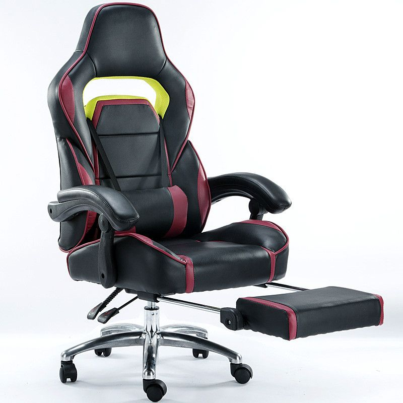 High Quality Electronic Sports Gaming Chair Ergonomic Computer Chair Swivel Office Chair Leisure Lying Lifting Soft Footrest