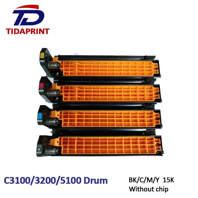 TIDAPRINT Remanufactured Drum Cartridge C3100 3200 5100 Imaging Unit Drum Kit for OKI Printer