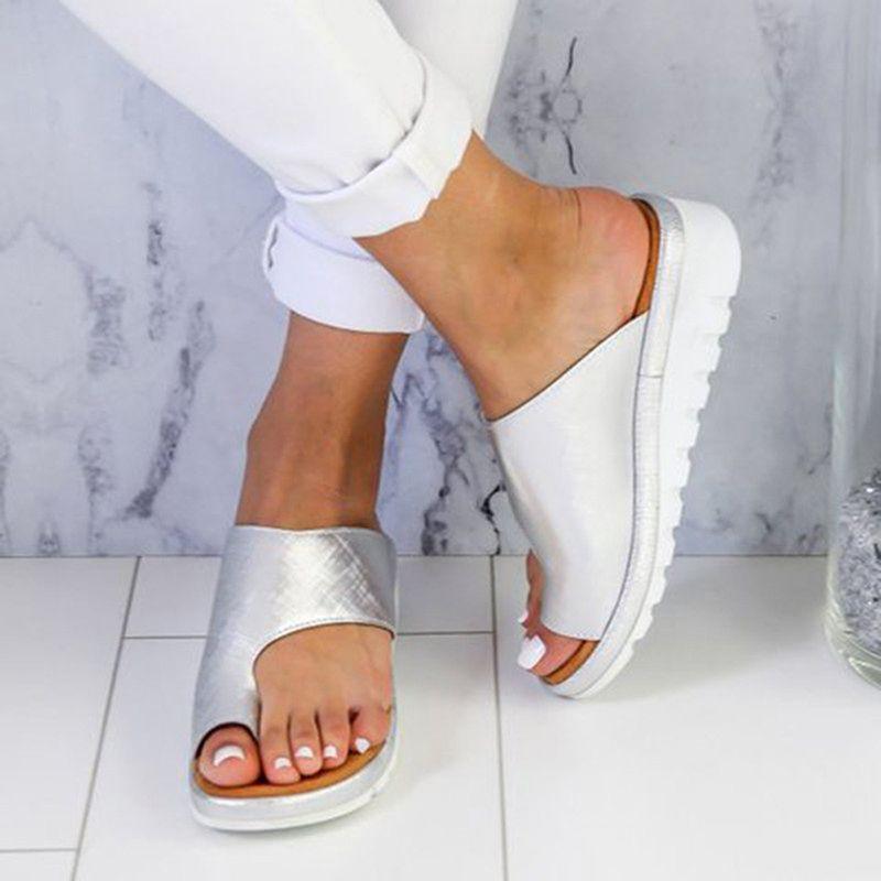 Flat Bottom Toe Sleeve Femme Platform Sandals Sandalias Mujer 2019 Slippers Zapatos De Mujer Women Wedges Sandals Size 34-43
