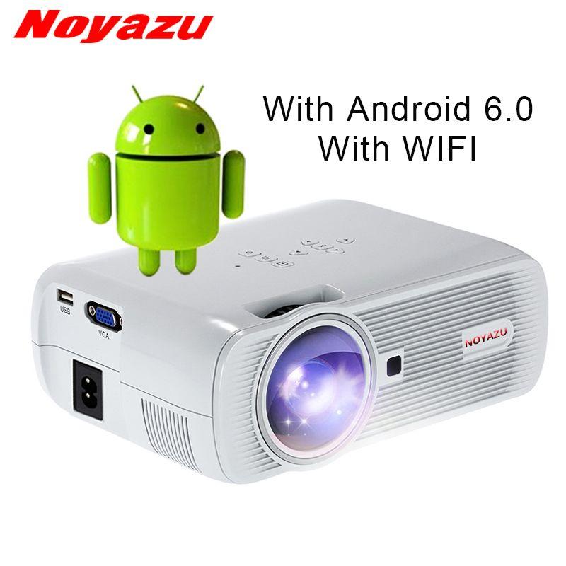 NOYAZU Neue BL80 Smart Android 6.0 WIFI Bewegliches HD FÜHRTE TV Projektor 3D für heimkino LCD beamer beamer