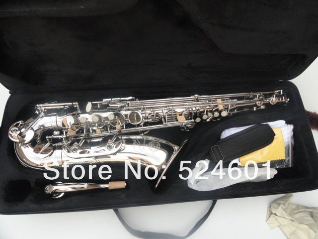 Selma R54 Bb Tenor Brass Saxophone Nickel Plated Surface Brand Musical Instrument Saxophone With Case Mouthpiece Accessories