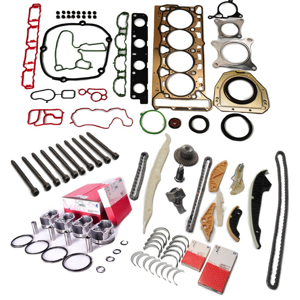 Engine Pistons Rings Seals Rebuild Set Overhaul Rebuild Pistons Rings For VW AUDI SEAT SKODA 1.8 TSI CDA CDH CDAA CDAB CDHA CDHB