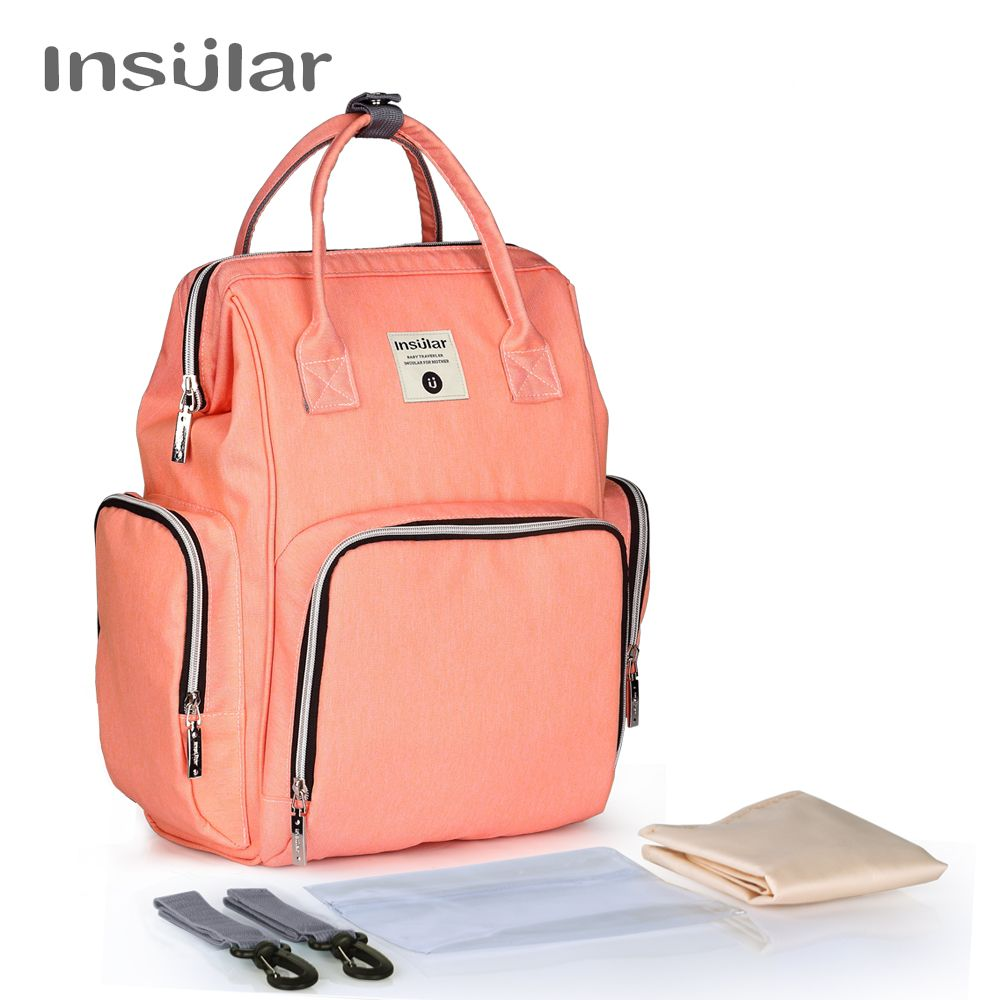 Insular Brand Mummy Maternity Nappy Bag Large Capacity Baby Dry Wet Nursing Diaper Bag Travel Backpack Stroller Hanging Bag