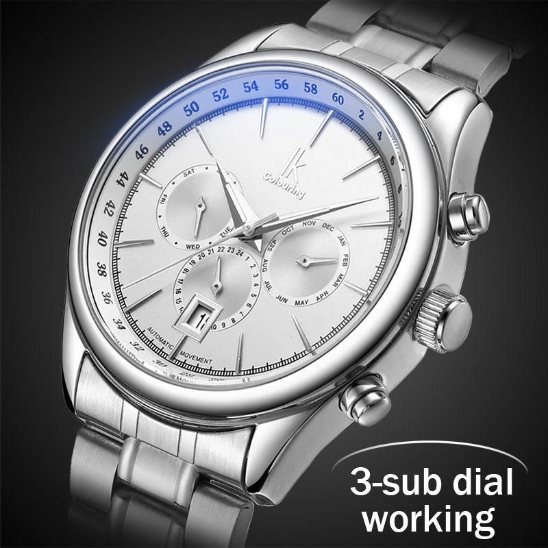 2018 Herrenuhren Top-marke Luxus Automatische Mechanische Uhr Männer Voller Stahl Business Wasserdichte Sport Uhren Relogio Masculino