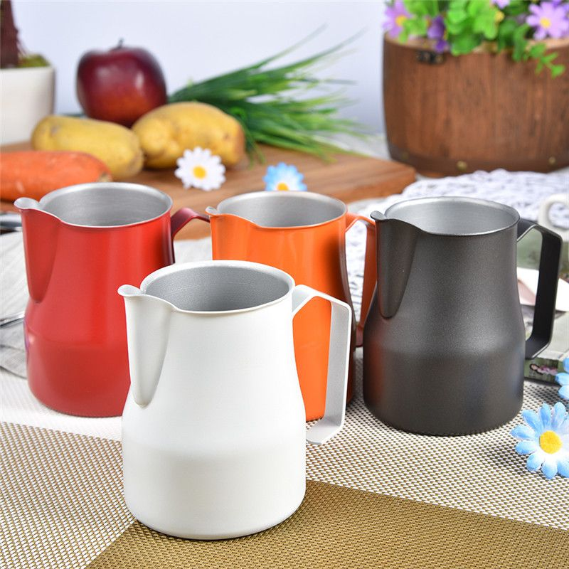 High Quality Stainless Steel Milk Frothing Pitcher Jug Espresso For Coffee Moka Cappuccino Latte Drinks Barista Craft
