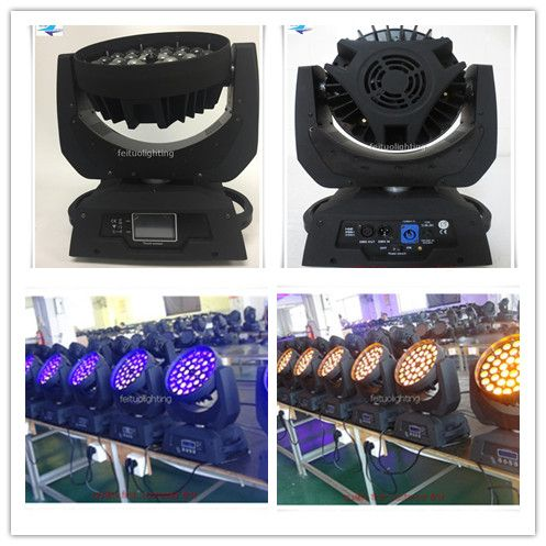 A-Touch screen Hot sell (2PCS/lot) 6in1 zoom moving head led 36x18w wash