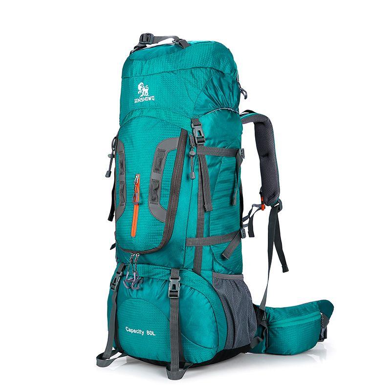 80L Camping Wandern Rucksäcke Große Außentasche Rucksack Nylon superlight Sport Reisetasche aluminiumlegierung 1,45 kg