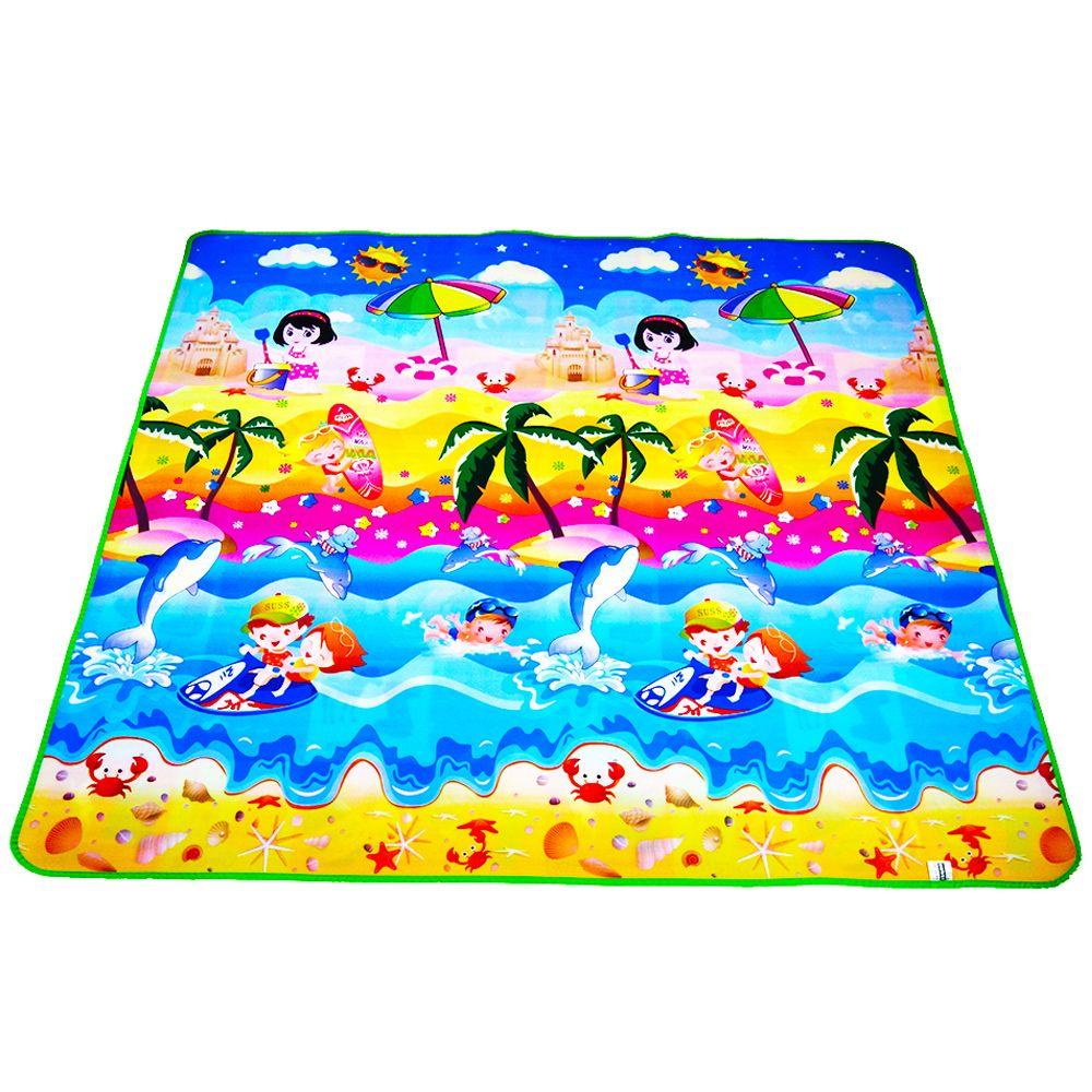 Tapis bébé Double face bébé tapis de jeu Eva mousse développement tapis pour enfants tapis enfants jouets Gym jeu tapis ramper Gym tapis de jeu cadeau