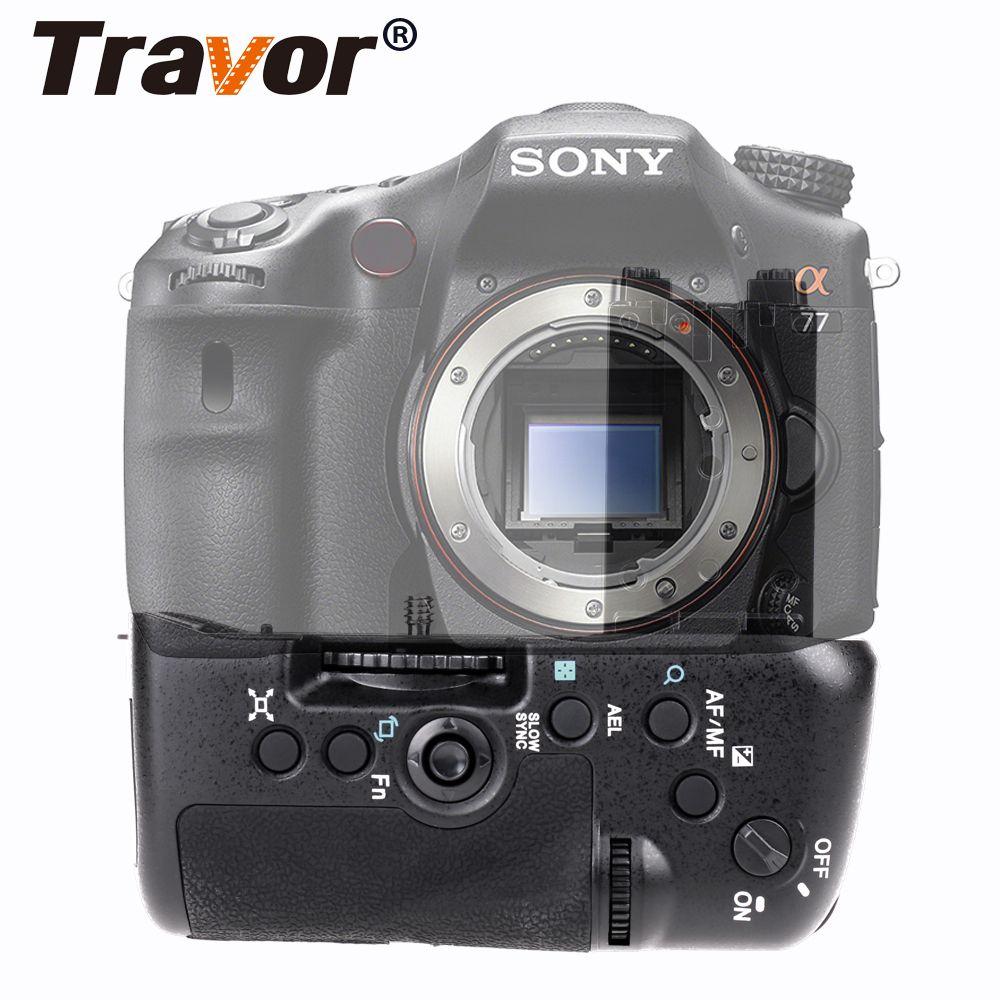 Support de poignée de batterie multi-puissance Travor pour Sony STL-A77 A77V A77ii A99ii VG-C77AM de remplacement avec batterie de NP-FM500H