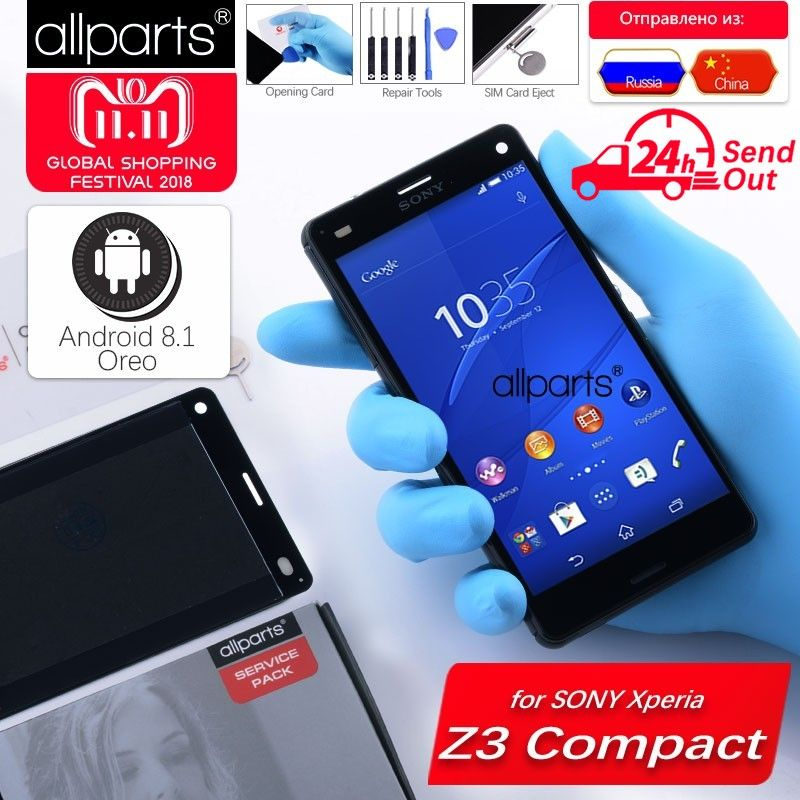 ORIGINAL LCD For SONY Xperia Z3 Compact Display Touch Screen with Frame Z3 Mini D5803 D5833 For SONY Xperia Z3 Compact Display
