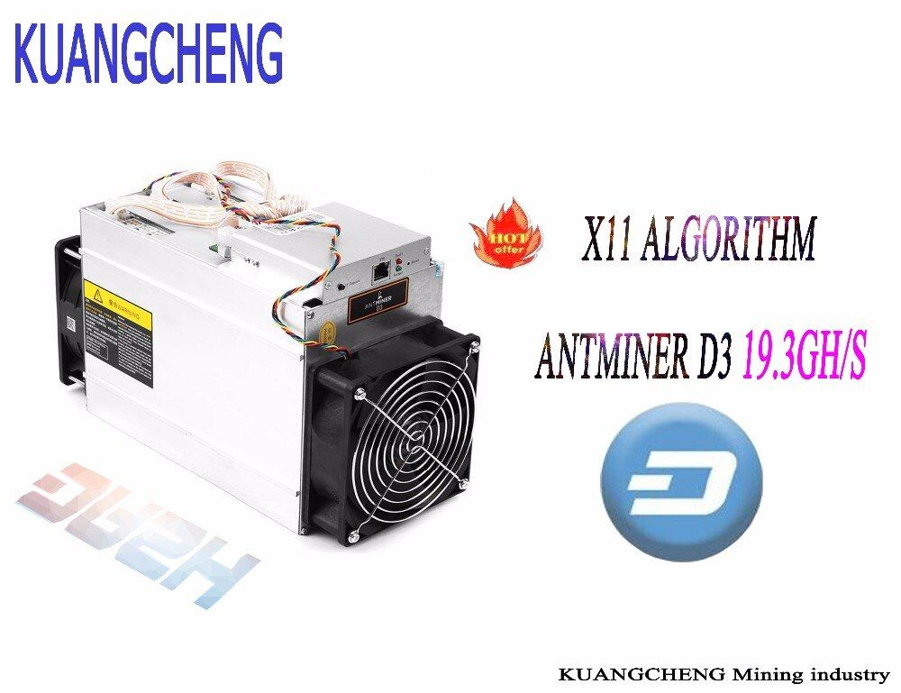 DASH miner ANTMINER D3 19.3GH/s (no psu) BITMAIN X11 dash mining Asic Miner machine can miner BTC on nicehash