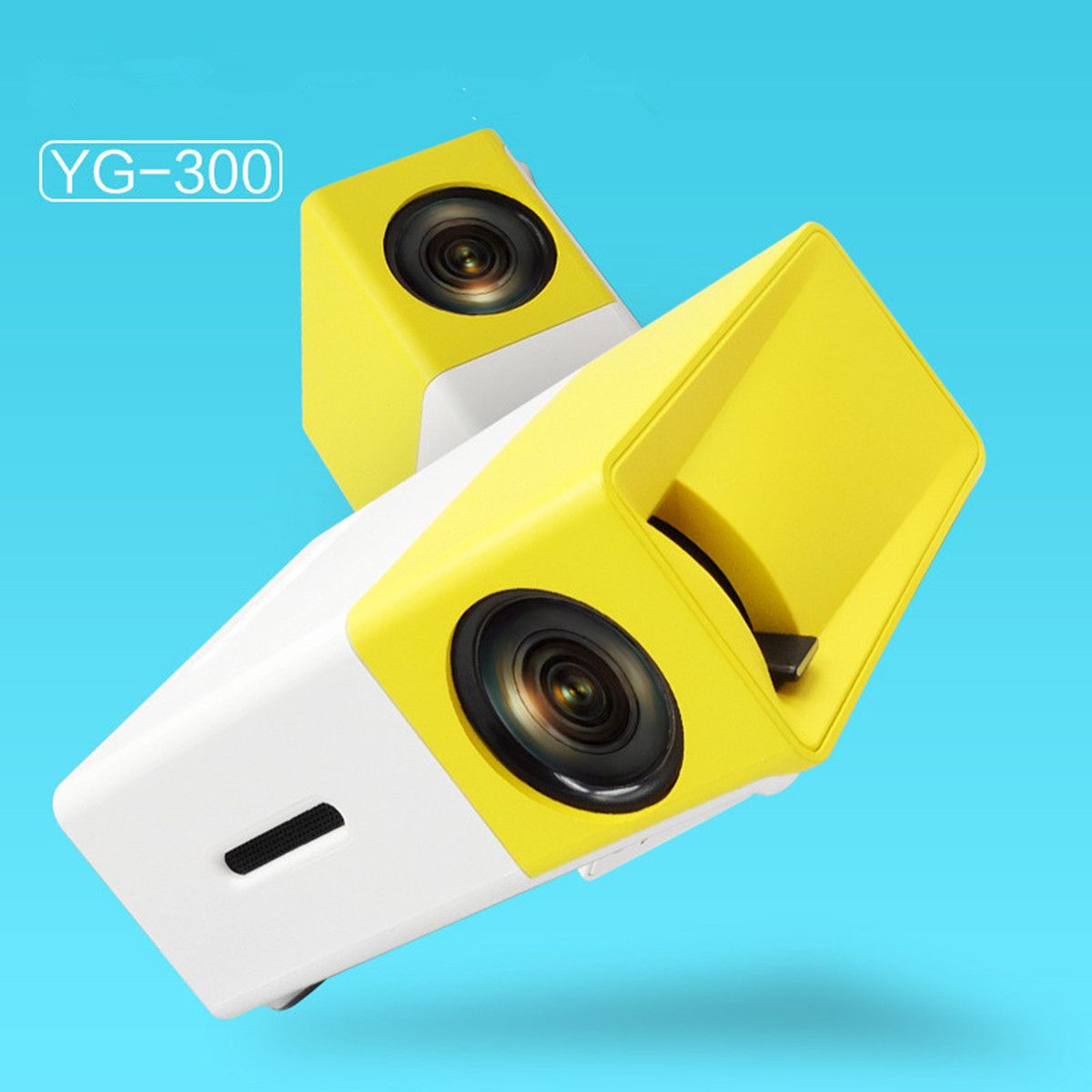 YG300 YG - 300 LCD Projector Full HD 1080P Mini Portable Home Theather Cinema LED Projector For Video Media Player