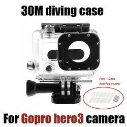 Tekcam For Gopro hero 3 Accessories 30M Waterproof Case Underwater Diving Housing Box for Gopro hero3+ hero4