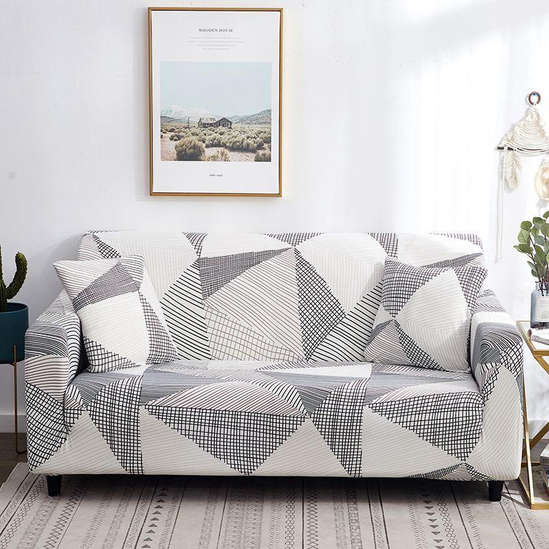 Housse de canapé canapé élastique extensible étroitement envelopper tout compris antidérapant housse de canapé pour salon 1pc Multi couleurs