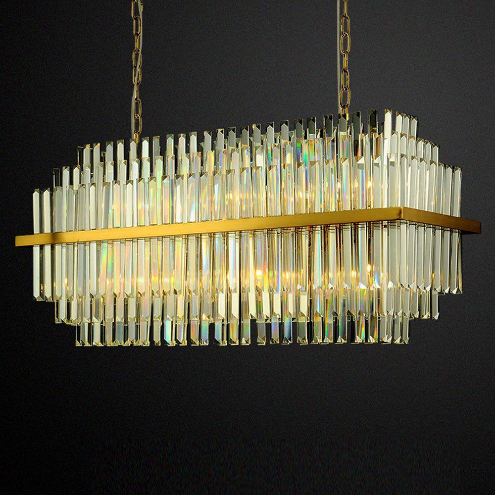 Luxus design moderne lving zimmer kronleuchter kristall beleuchtung AC110V 220 v glanz gold kroonluchter esszimmer lichter