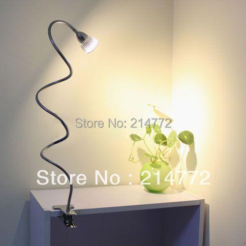 Jiawen 3 W haute puissance LED lampe de bureau clip lampes de table lampes de lecture pour lit livraison gratuite, AC90-260V