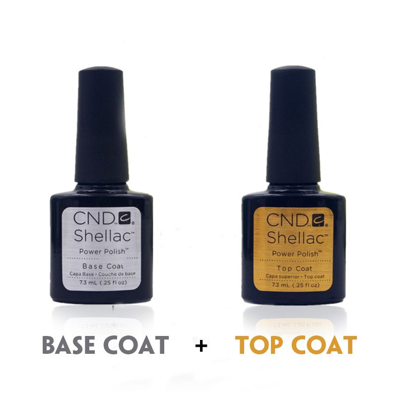 Brand New Nail Gel Top Coat Top it off + Base Coat Foundation For UV Gel Polish Best Selling 7ml Gel Nail Polish