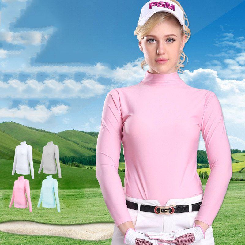 PGM Women Summer Outdoor Sport Clothes Soft Viscose Shirt Underwear Golf Long Sleeve T-shirts Clothes Golf Apparel