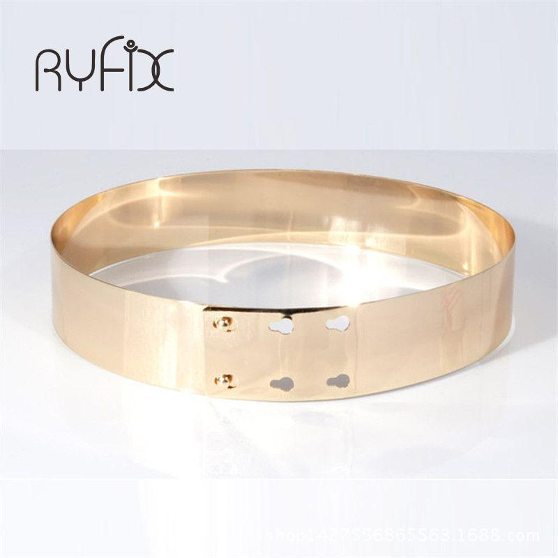 Largeur 4.5cm métal miroir ceinture mode femmes haute qualité ceinture dorée ceinture Cummerbunds Style européen ceinture ceinture ceinture BL17