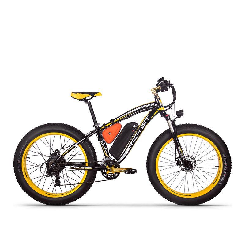 RichBit RT-012 Plus gros pneu ebike 21 vitesses 48V 1000W 17Ah batterie au Lithium puissant vélo électrique avec compteur de vitesse ordinateur