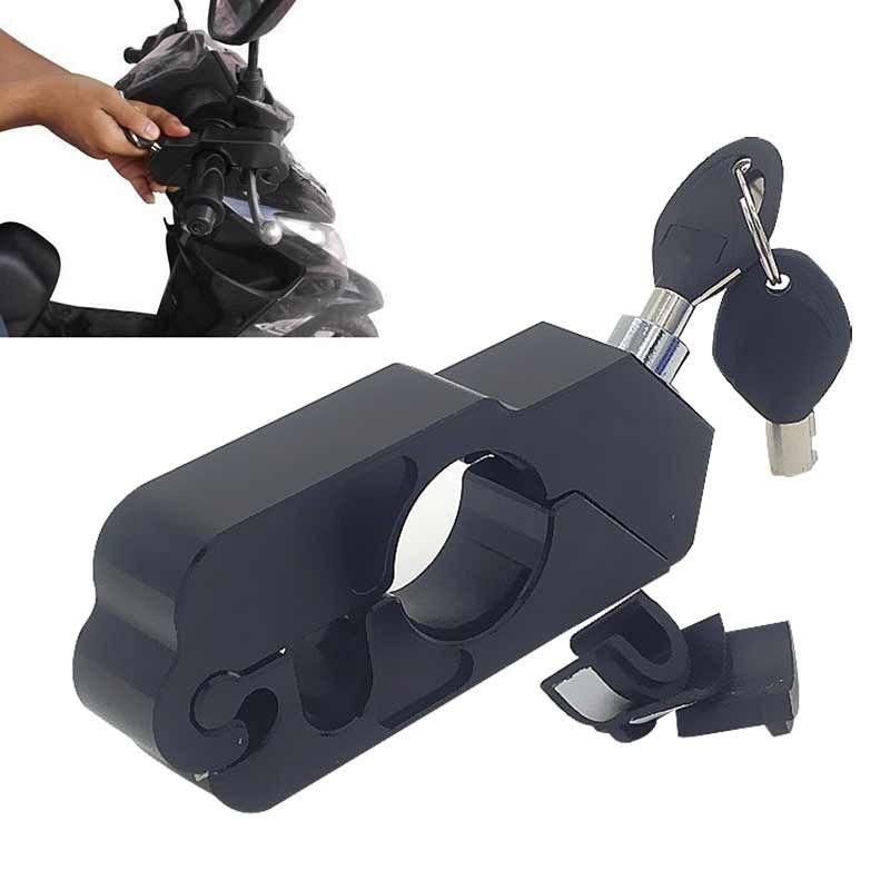 Black Aluminum CNC Motorcycle Handle Throttle Grip Security Black Lock Motorcross Motorbike Handlebar Handset Lever Lock CSL2