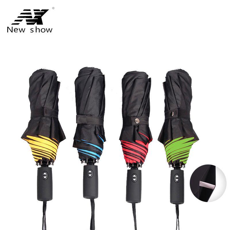 NX Новинка 2017 года двойной слой три складной зонтик Анти-УФ Автоматический Зонт Дождь Женщины ветрозащитный солнце женский зонт corporation
