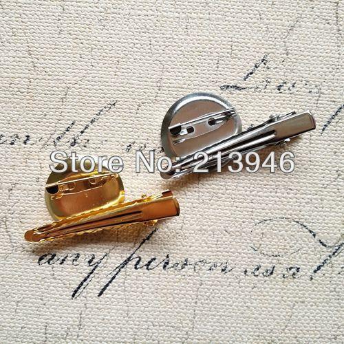 23mm 50 Pcs/Pack Double Broche Retour Base Avec Clip et Goupille de Sécurité Pour des Résultats de Bijoux Accessoires