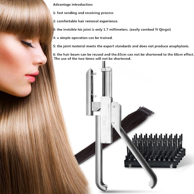 6D Hair Extension Tool Professional Salon Equipment for Faster Hair Extension Treatments |Increase Volume and Length Technology