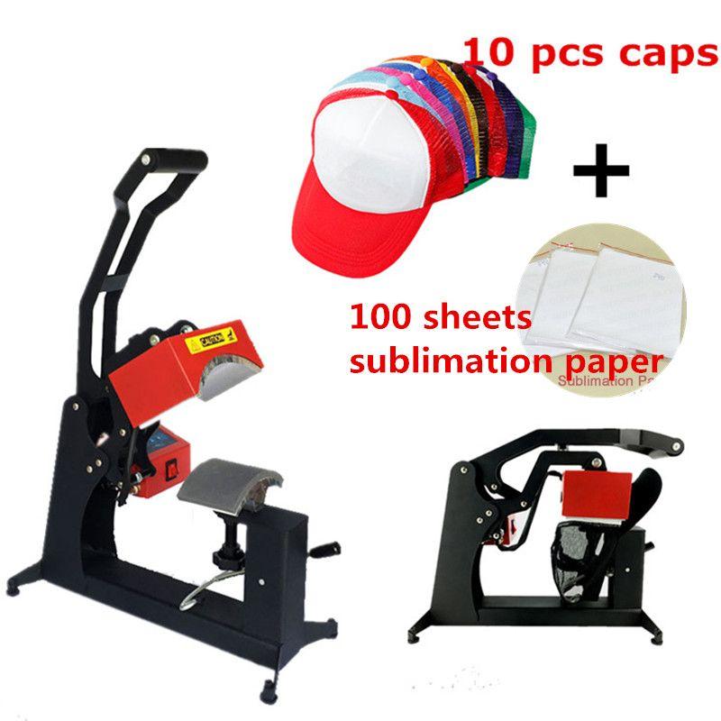 RB-C142 Digitale Sublimation Hüte Caps Hitze Presse Maschine Wärme Transfer Drucker einschließlich 10 caps und 100 sublimation papier
