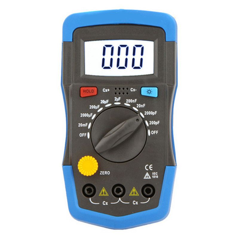 BSIDE Capcitance meter DM6013L Handheld capacimetro 1999 counts Capacitor electronic w/ LCD Capacitance multimeter tester