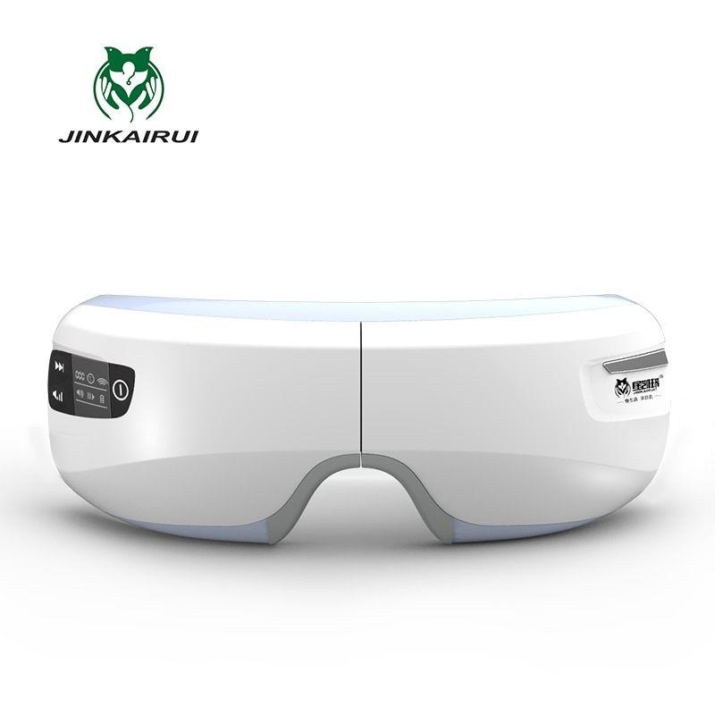 Rechargeable Electric Air <font><b>Pressure</b></font> Eye Massager with Mp3 Functions Wireless Vibration Magnetic Far-infrared Heating Usb Glasses