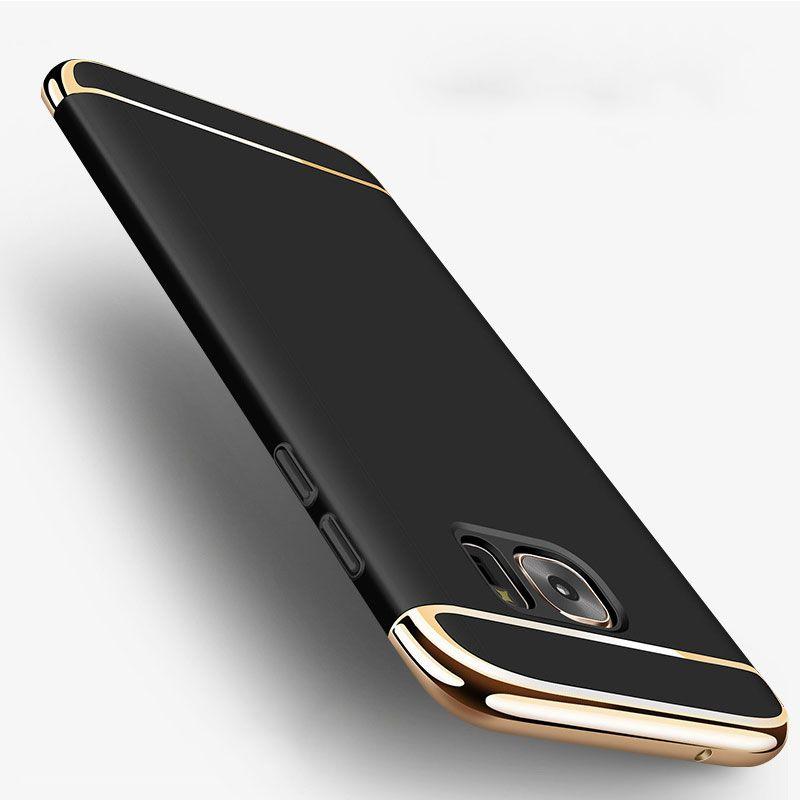 3 en 1 Plaque Cadre Mat PC Antichoc Cas de Téléphone Pour Samsung Galaxy S7 S6 Bord S8 Plus J5 J7 A5 A7 2016 Grand Prime NOTE 5 Cas