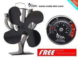 Новый Дизайн Тепловая Плита Топ вентилятор с бесплатным термометр для плиты для дерева/бревен горелки камин-экологичный воздушный поток ...