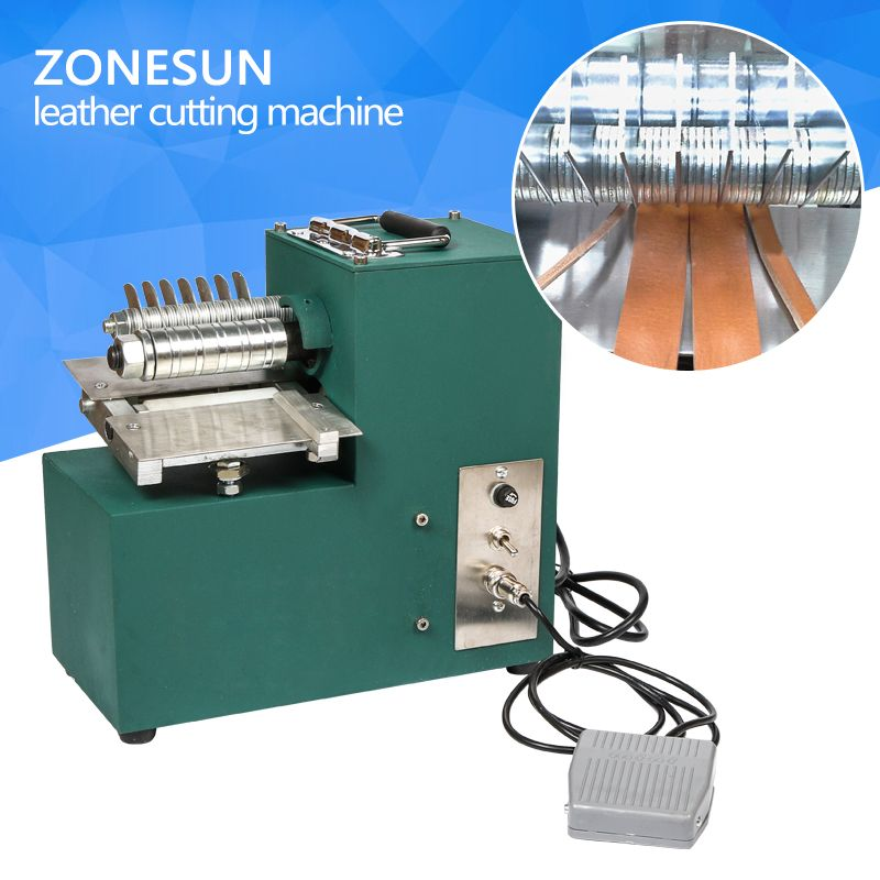 ZONESUN leather strap cutting machine slitting shoe bags straight paper cutter Vegetable tanned leather slicer tailor scissors