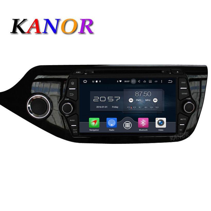 Kanor Android 6.0 Octa core 4 г автомобиля GPS мультимедийный проигрыватель для Kia Ceed 2013 2014 2015 аудио Радио satnavi головного устройства Bluetooth WI-FI