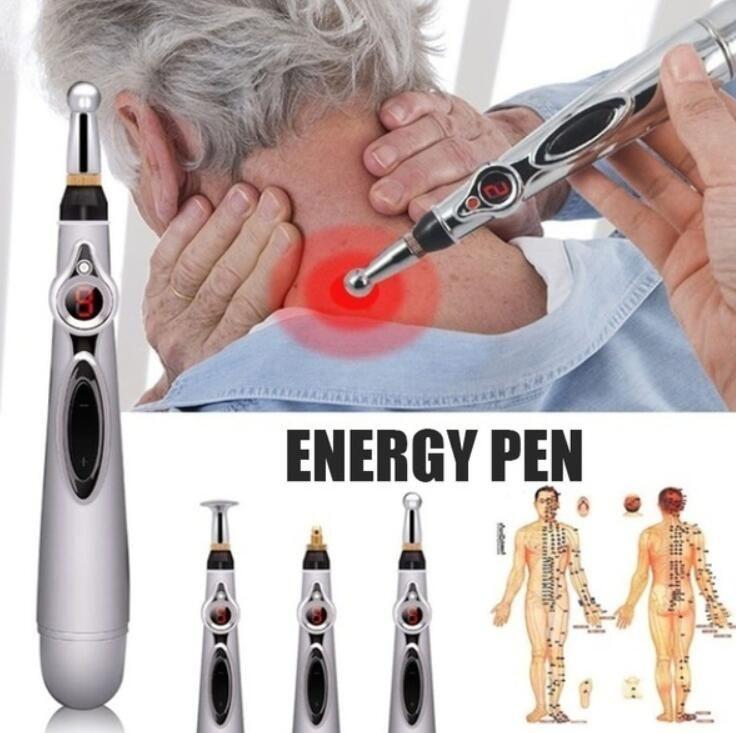 Soins de santé méridiens électriques Laser Acupuncture aimant thérapie Instrument Massage méridien énergie stylo masseur outil de soins du visage
