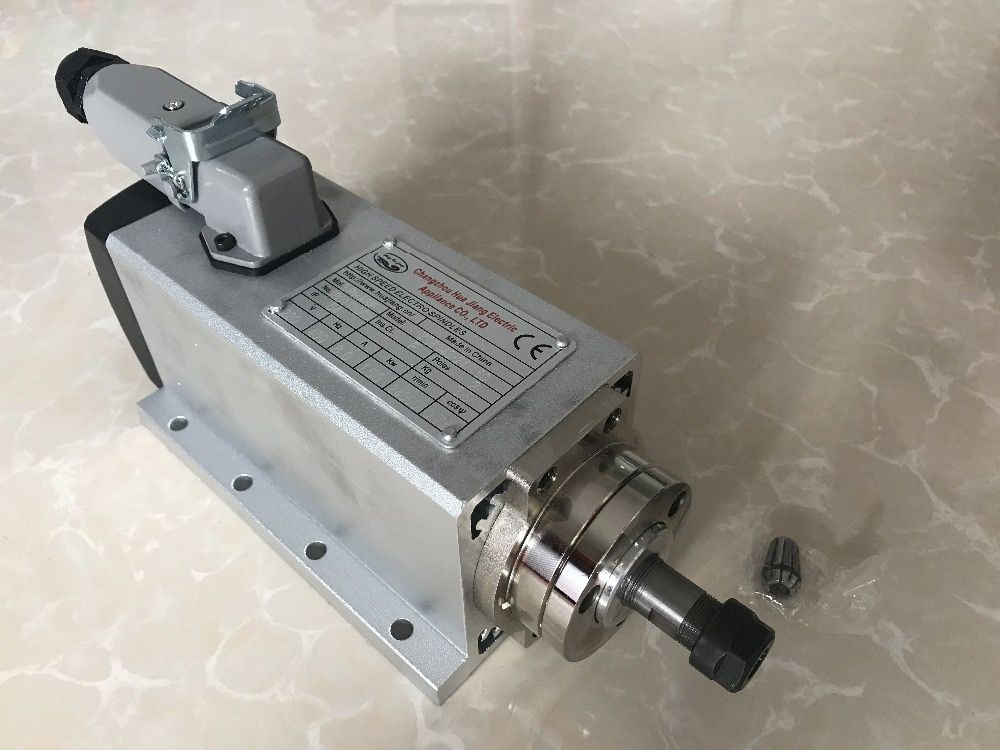 2018 Spindle 3KW 220V Air Cooled Spindle Motor CNC Router Tools VFD Inverter 2pcs ER20 Collet Chuck For Millin Machine