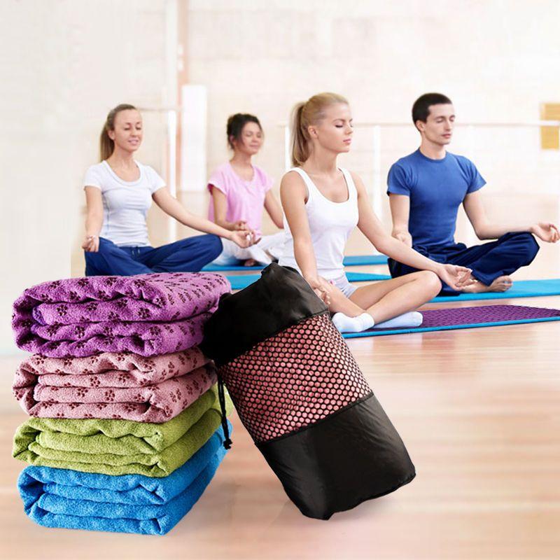 YOUGLE Non Slip Yoga Mat Cover Towel Blanket Sport Fitness Exercise Pilates Workout HOT